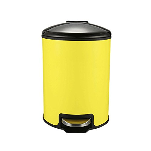 GJ Trash Can 12L Stainless Steel Pedal Trash Can Multicolor