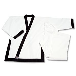 "ProForce 8oz Medium Weight Tang Soo Do Uniform - Black - Size 5 (5'11"" / 210lbs)"