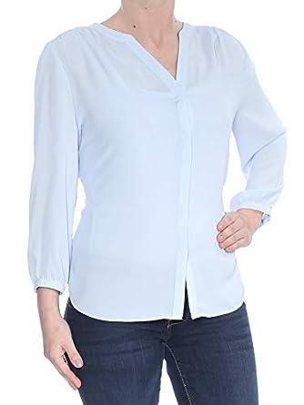Amazon.com: NYDJ $88 mujeres Nuevo 1714 azul claro plisado ...