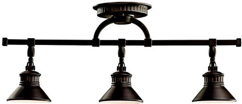 Kichler 42439OZ Sayre Rail Light 3-Light Halogen, Olde Bronze (Three Rail Directional Light)