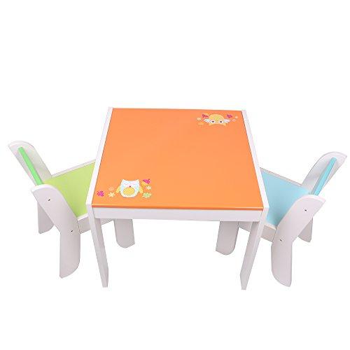 Labebe - Sitzgruppe Eule - mit 1 Kindertisch & 2 Stuhl