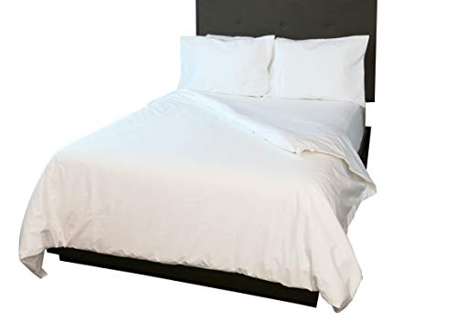 Waterproof/Breathable Cotton Duvet/Comforter Cover (Waterproof ONE Side) (White, Full Queen)