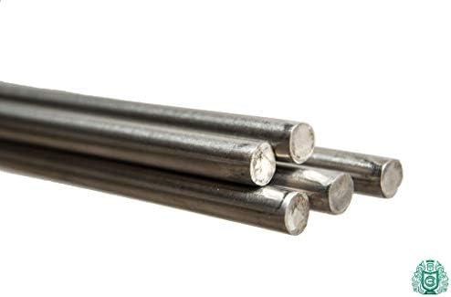 1 Meter Edelstahl Stange 12mm (1.4301 / Aisi - 304) V2A Rundstab Stäbe Vollwelle gezogen Edelstahlstäbe Rund-Profil Rundstahl
