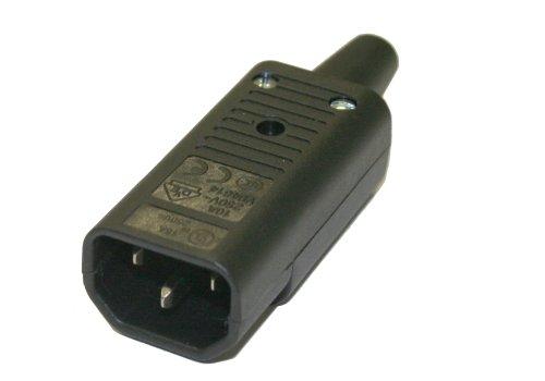 Interpower 83011060 IEC 60320 Sheet E Rewireable Plug, IEC 60320 Sheet E Socket Type, Black, 10A/15A Rating, 250VAC Rating by Interpower