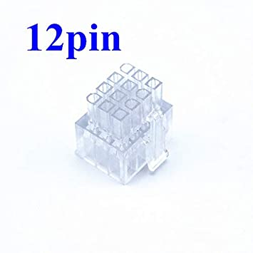 Computer Cables 4.2mm Power Connector 9Pin 12Pin 18Pin Male Housing Transparent for LEADEX Series 33pin 34pin 36pin Cable Length: 9pin, Color: 50PCS