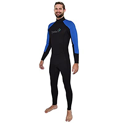 Ivation Men's 2.5mm Premium Neoprene Full Body Wetsuit - Excellent for Multisport Use In and Out of Water