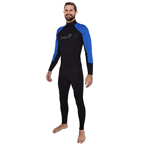 Ivation Men's 2.5mm Premium Neoprene Full Body Wetsuit - Excellent for Multisport Use In and Out of Water ()