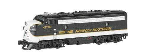 Emd F7a Unit - Bachmann Industries EMD F7-A Diesel Locomotive DCC Equipped Norfolk Southern Train Car, Black/Gray, N Scale