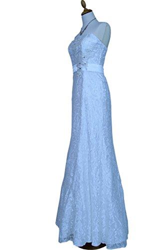 creme 42 mit Spitzenkleid Cocktailkleid Ballkleid Stola Gr Langes Abendkleid 8YqaA6f