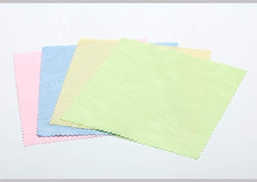 Microfiber Cleaning Cloths for Eyeglasses, LCD Screens, CD, DVD, and More (20 Pack)