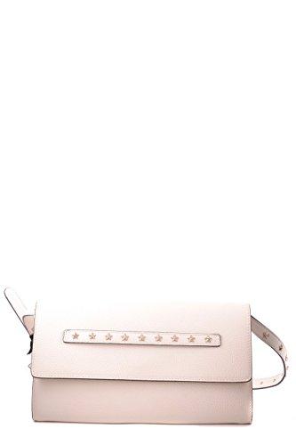 MQ0B0677DSR111 Valentino Cuero Red De Blanco Bolso Mujer Hombro TnqCxwS