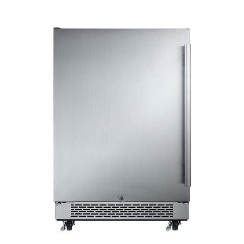Hinge Outdoor Refrigerator (Avallon AFR241SSODLH 5.5 Cu Ft 24