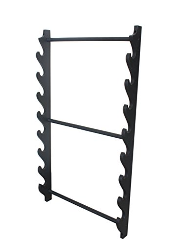 Sword Wall Rack (8 Tiers Deluxe Katana Sword Wall Mounted Display Stand Rack/wall Hanging)