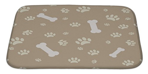 dog paw print bone bath