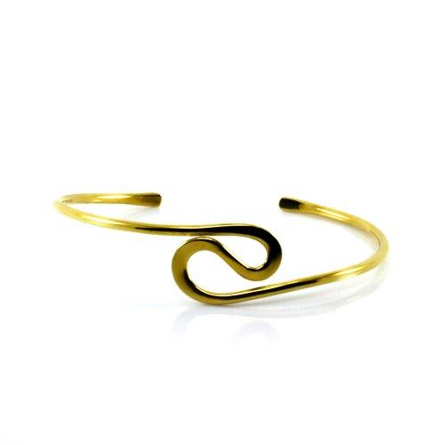 Mgd, 23mm de large Big en forme de S Tour de Bras réglable haut du bras Bracelet, Doré Laiton, taille unique, bijoux tendance pour femme, Je-0119m