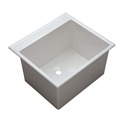 Superieur ProFlo PFLT2522D 24 1/2u0026quot; Single Basin Drop In Composite Laundry Sink