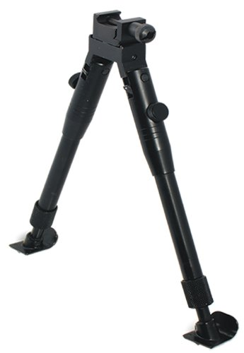 UTG Low-Profile Deluxe Universal Picatinny and Swivel-Stud Bipod, Outdoor Stuffs