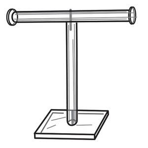 T-Bar Necklace Stand Clear Acrylic, 8
