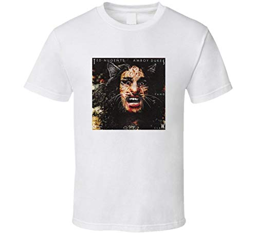 Dazed and Confused Halloween Costume Ted Nugent Amboy Dukes T Shirt M White Large