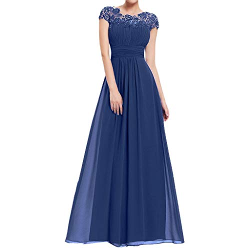LuluZanm, Women Vintage Princess Floral Lace Cocktail O-Neck Party Aline Swing Dress -