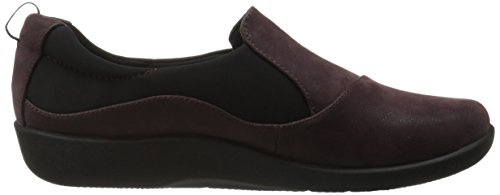 Clarks mujer cloudsteppers Sillian paz Slip-On Loafer Aubergine Synthetic Nubuck