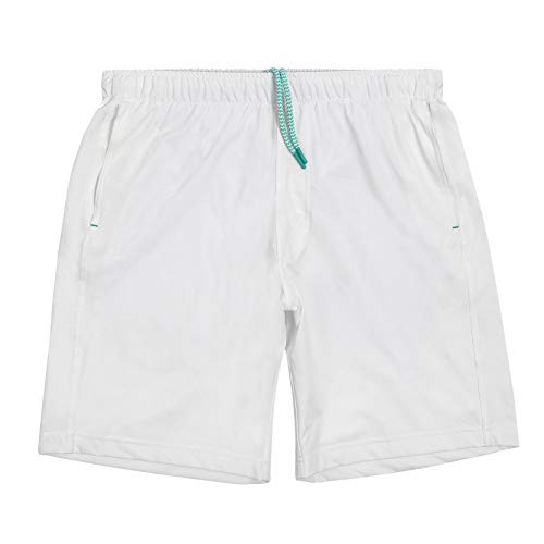 Myles Apparel Men's Athletic, 4-Way Stretch Everyday Shorts for Running, Gym, Hiking, Yoga and Weightlifting (White, S - Short) (The Best Of Myles)