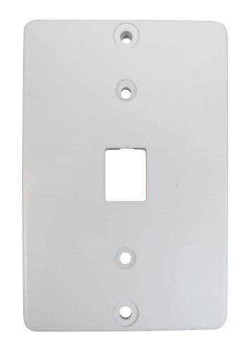 Allen Tel Products AT630ABC-4-15 Single Gang, 1 Port, 6 Position, 4 Conductor Wall Telephone Outlet Jack, Plastic Sleeve, White