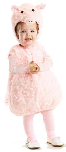 Underwraps Baby's Piglet Belly-Babies, Pink, Medium