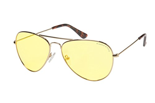 Eagle Eyes Classic Aviator Night-Lite - Night Driving - Eyes Eagle Sunglasses