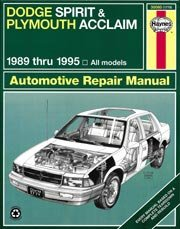DODGE SPIRIT & PLYMOUTH ACCLAIM AUTOMOTIVE REPAIR MANUAL 1989 THRU 1995 ALL MODELS
