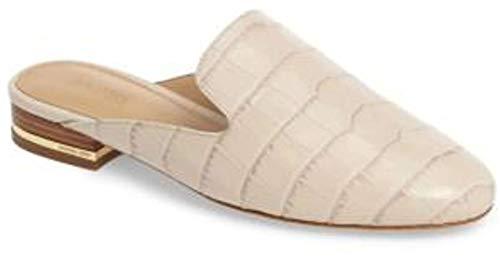 MICHAEL Michael Kors Womens Natasha Leather Almond Toe Casual, Ecru, Size 5.5 ()