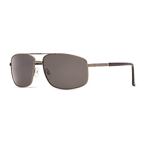 Pacific Sol Polarized Rectangle Sport Sunglasses for Driving, Fishing, Sporting, 100% UV Protection, Metal - Notice Burn Glasses