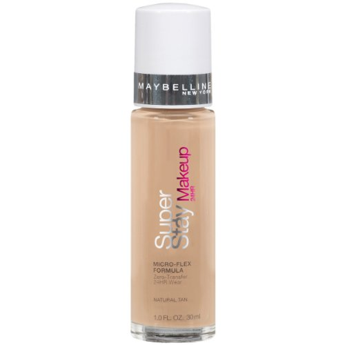 Essie Natural - Maybelline New York Super Stay 24Hr Makeup, Natural Tan, 1 Fluid Ounce