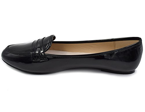 Loafer Suede Slip Shoes Patent Women's on Black Greatonu Comfort Flat Penny Faux nw0gCqEE6