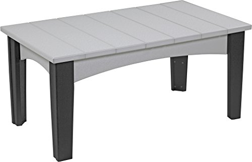 Furniture Barn USA Poly Lumber Wood Island Coffee Table - Do