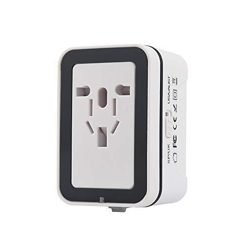 - ❤️Byedog❤World Universal Travel Adapter with 2 USB Ports Power Convertor Wall Plug Power (White)