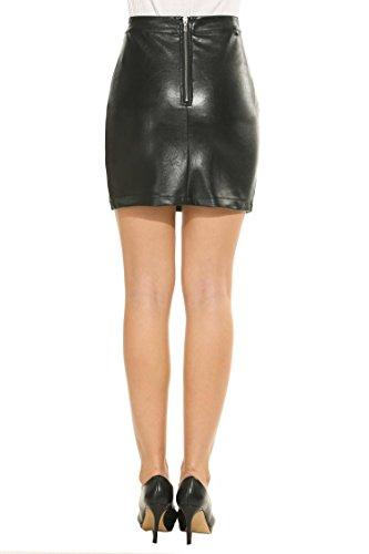 En Parti Mince Haute Femmes Taille Cuir Jupe Jupe Noir Sexy Crayon Parabler fq5SW