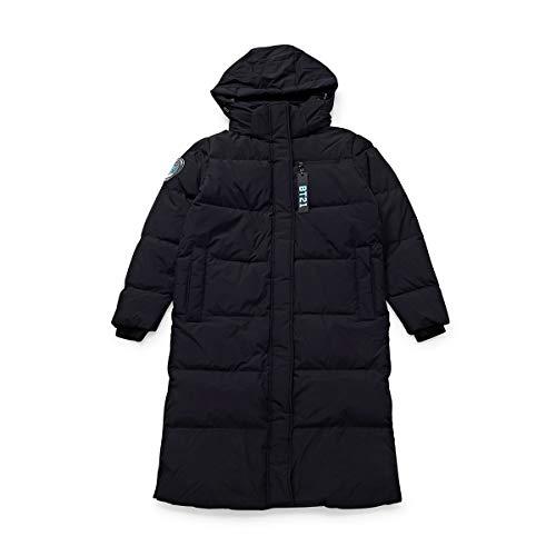 BT21 Official Merchandise by Line Friends - KOYA Character Down Parka Puffer Jacket Winter Coat, Large, Black