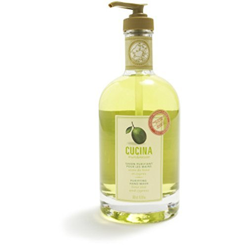 Cucina Purifying Hand Soaps, 16.9 oz., Lime Zest Cypress by Cucina