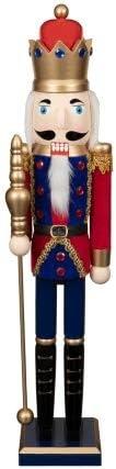 Blue 62cm RA-HOMESTORE New Stunning Christmas Nutcracker - Perfect Home Decoration Piece