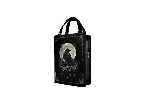 Size Magic Raven Black Shaped One Witches Handbag Book Spells Gothic Restyle aTxHq1H