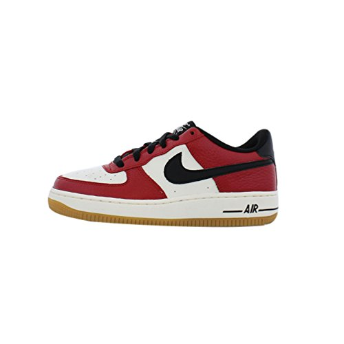 Nike Kids Air Force 1 Premium (gs) Scarpa Da Basket Rossa / Blk / Bianco