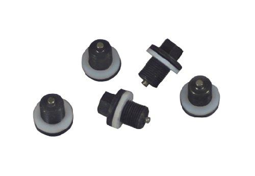Lisle 58650 Plug and Gasket for Oil Pan Plug Rethreading Kit, Set of 5 - Oil Pan Gasket Kit