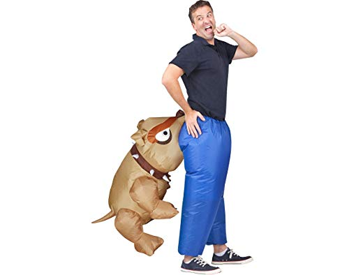Totally Ghoul Biting Bulldog Illusion Inflatable Costume, One size fits most adults for $<!--$31.99-->