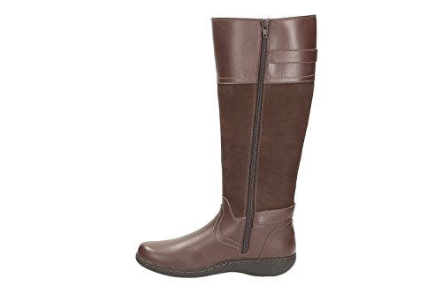 Clarks Women's Flats Knee High Boots Fianna Phoenix Dark Brown Combi:  Amazon.co.uk: Shoes & Bags