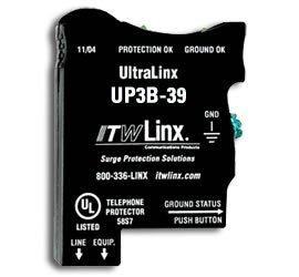 ULTRALINX-66 BLOCK PROTECT 39V CLAMP,350mA FUSE,LIGHT INDICAT-by ITW Linx