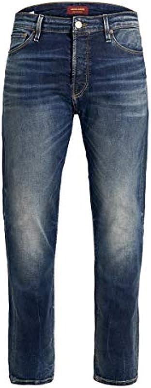 Jeans Jack & Jones Fred Icon Uomo Blue Denim Cropped Con Strappi e graffi 12158615 - 29/32: Odzież