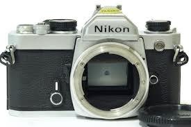 Nikon FM chrome body SLR film camera