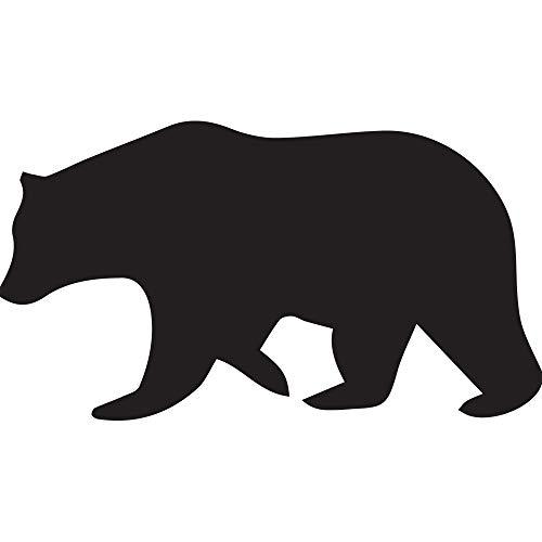 (NBFU DECALS Bear Silhouette Stencil 4 (Black) (Set of 2) Premium Waterproof Vinyl Decal Stickers for Laptop Phone Accessory Helmet Car Window Bumper Mug Tuber Cup Door Wall Decoration)