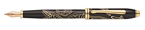 c 2018 Year of the Dog Fountain Pen with 23KT Gold Plated Appointments and Fine Nib (AT0046-54FD) ()
